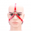 Red Patent Leather Sex BDSM Bondage Mask Slave Fetish Mask Headgear Exotic Accessories Sex Toys For Adults Games