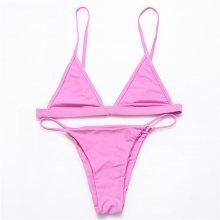 BANDEA 2016 Brazilian Bikini Sexy Women Biquini Halter Swimwear Summer Mesh solid
