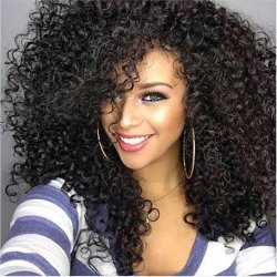 Afro Kinky Curly Synthetic Wig Female Wig Hair Long Kinky Afro Curly Hair wig