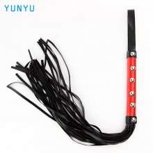 1 pcs Erotic Toys Sexy Whip Black Lash Red Handle For Adult Game PU Leather Flirt