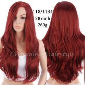 Synthetic Wigs Red False Hair Long Wigs for Black Women Wave Natural Cheap Hair