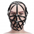 Black Leather Sex BDSM Bondage Mask Hollow out Slave Fetish Mask Headgear Exotic Accessories Sex Toys For Adults Games