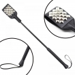 Delicate Black PU Leather Whip , Spanking Paddle Couple Adult Game Game Products