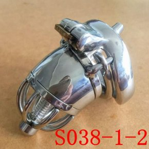 Male Chastity Belt 70mm size Stainless Steel Chastity Device Penis Restraint Cage