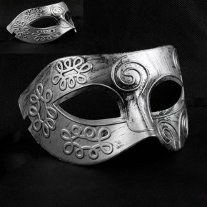 Cool Adult Men Greek Roman Fighter Face Mask Veil Sexy Prom Party Halloween Masquer