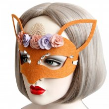 Wholesale Factory Price Brown Masks for Halloween Girls Women Sexy Lady Masquerade