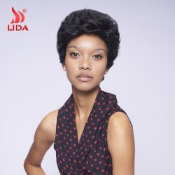 2016 New Short Synthetic Wigs For Black Women Color 1B Short Synthetic Wigs 100