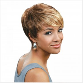 HAIRJOY New Stylish Mix Color Short Straight Woman Fashion Sexy Synthetic Hair