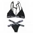 Woman Sexy swimwear bra letters Beachsuit bikini suit bandage triangle swimsuit