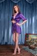 Purple Lip Locked Satin Robe