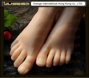 2015 New Top Quality Foot Fetish Toys,Solid Silicone Female Feet, Feet Fetish To