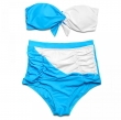 Trangel 2017 new arrival women Bikini Set halter top swimming wear patchwork high