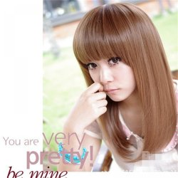 good quality brownblack synthetic wigs cheap straight wigs womens natural resistant