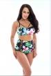 2017 New Floral Print High Waist Swimsuit Push Up Bikini Plus Size Swimwear Women