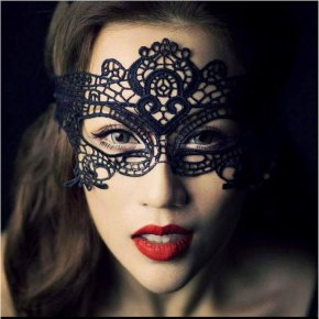 DHL 100pcs Black Sexy Lace Mask Cutout Eye Mask for Halloween Masquerade Party