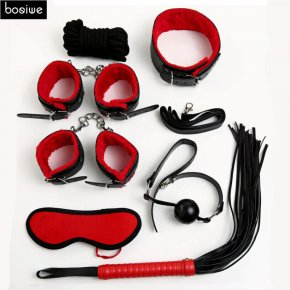 Sex Bondage Kit Set 7 Pcs Sexy Product Set Adult Games Toys Set Hand Cuffs Footcuff