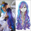 32inch Ombre Colorful Long Wavy Anime My Little Pony Princess Celestia Cosplay Harajuku