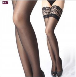 Fashion Sexy Women Stockings Ultrathin Lace Top Sheer Thigh High Silk Stockings