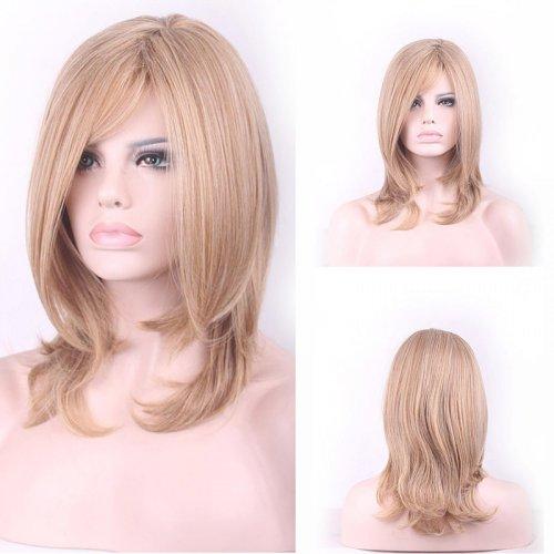 Fashion Sexy Medium Long Curly Wavy Cosplay Full Wig Women Wigs Hair Wig Girl Gift