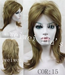2015 Pelucas long Women Wigs Synthetic Hair Wig
