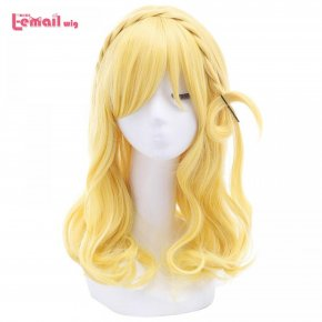 L-email wig New Arrival Love Live!Sunshine!! Ohara Mari Women Cosplay Wigs Yellow