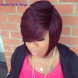Short Curly Synthetic Resistant Fiber Red Hair Wig For Black Women Curly Synthetic