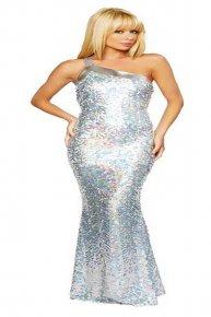 silver sexy dance skirt