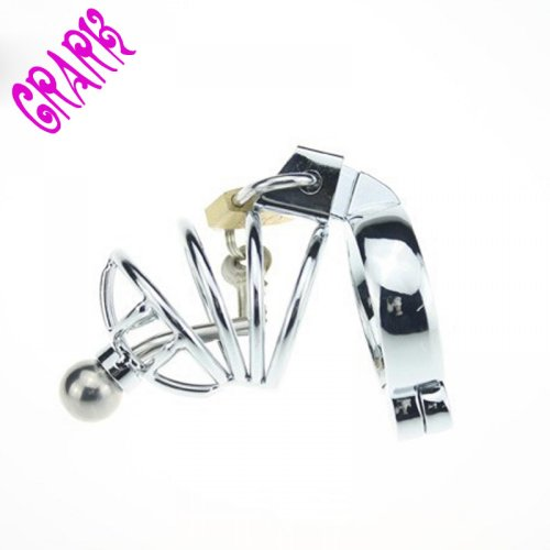 Small Male Chastity Device Adult Cock Cage With arc-shaped Cock Ring Sex Toys Stain
