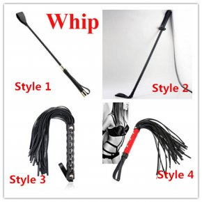 PU Leather Spanking Flogger Whip For Woman Sex Toys ,4 Styles For Choose Sexy Paddle