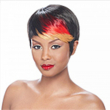 HAIRJOY Hot Item Black and Red Straight Short Wig Woman Fashion Synthetic