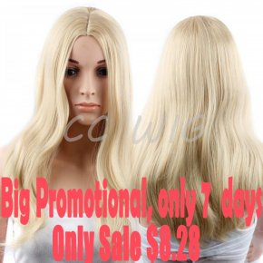 Promotion Blonde Wig Natural Cheap Hair Wig Synthetic Wigs For Black Women Long