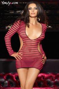 red streak dress