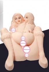 2 girls 1 guy threesome porn doll