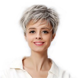 Short Curly Hair Wig Full Synthetic Womens Wigs with Wig Cap