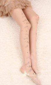 Printing fake tattoo tattoo ultra-thin incarnadine lovely bowknot silk stockings