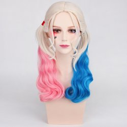 Anime Suicide Squad Joker Harleen Quinzel Wig Cosplay Costume Harley Quinn Women Hair Halloween Party Wigs