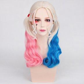 Anime Suicide Squad Joker Harleen Quinzel Wig Cosplay Costume Harley Quinn Women Hair Halloween Party Wigs