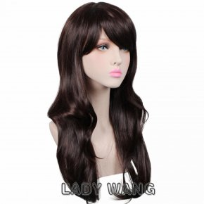 14 Colors Women Synthetic Wigs Long Curly Black Red Pink Brown Anime Cosplay Wig