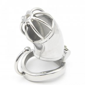 Ergonomic Design Stainless Steel Male Chastity Device Cock Cage Virginity Lock Penis
