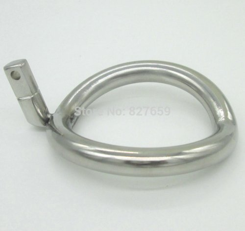 Super Small Male Chastity Belt Adult Cock Cage Stainless Steel arc-shaped Cock Ring