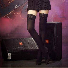 Women Fashion Ultrathin Lace Top plus size Thigh High Silk Sexy Stockings Long