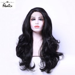 Aurica Long Fashion Natural Dark Brown #2 Bodywave Synthetic Lace Front Wig Glueless
