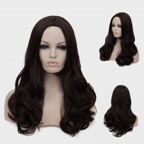 !!! New 45cm Wonder Woman Super Hero Cosplay Party Wig Dark Brown Ladies Women Hair