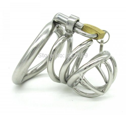 Stainless Steel Super Small Male Chastity Belt Adult Cock Cage With arc-shaped Cock