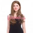 Resistant Women Wigs 70cm Long Straight Light Brown Women Synthetic Lace Closure