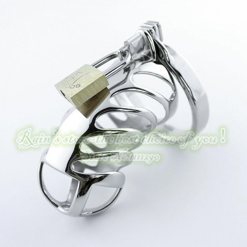 85mm Spiral Stainless Steel Male Chastity Device Special Chastity Belt Penis Sleeve