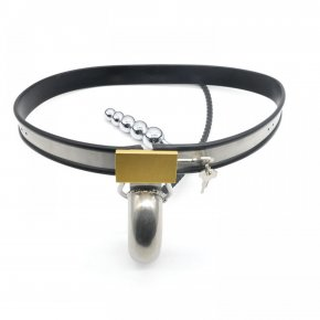 Prison Bird Amazing Price Stainless Steel Male Underwear Chastity Belt Plug For