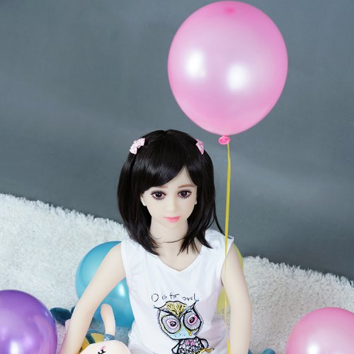 Free shipping 108cm little girl silicone sex doll