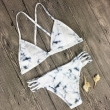 Brazilian Bikini Set Vintage White Printing Bikinis Swimsuit Padding Push Up Senx