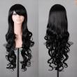 Hot sale cheap long wavy anime Silver/grey/red 12colors cosplay wig,kanekalon fibre